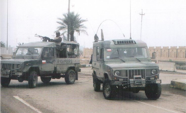 Polish Army Tarpan Honker in combat mission during Iraq War.