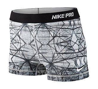 """Ban the boring black! Loving the printed bottom trend for athletic wear // Women's Nike 2.5"""" Pro Hypercool Compression Printed Short"""
