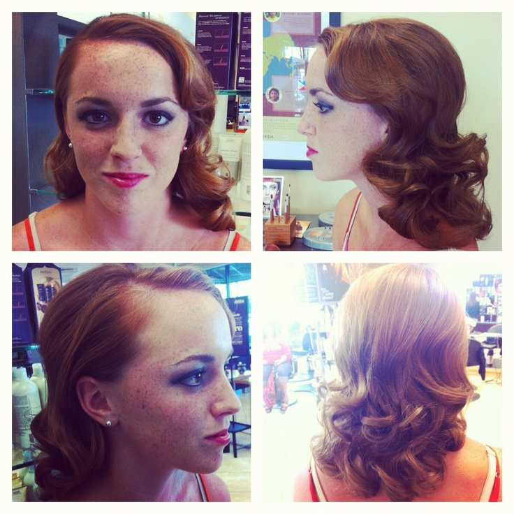 A retro style and make-up application from Lindsey in our Spanish Fort location.  #fusionspasalonaveda
