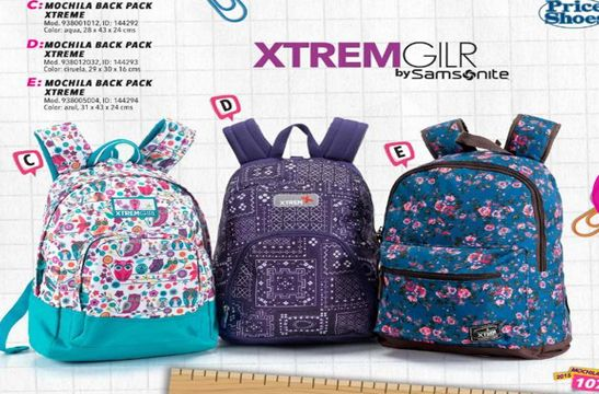 Price Shoes catalogo de mochilas escolares 2015