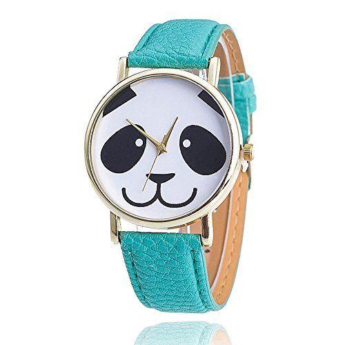 Blue leather strap panda watch, $8.99 from www.pandathings.com
