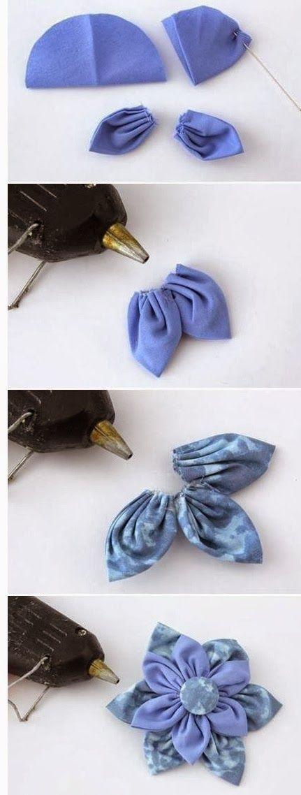 Relasé: Fiore con i petali a punta in tessuto - idea Fai da Te con tutorial fotografico