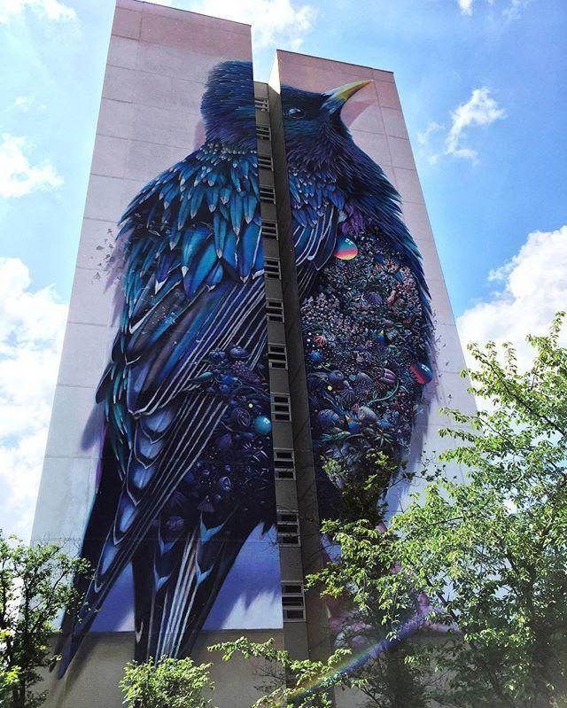 Berlin street art- Work by Collin Van Der Sluijs and Super A