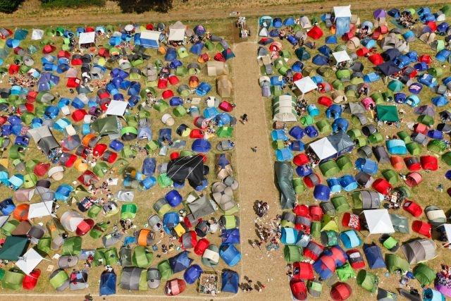 Les Vieilles Charrues  Les campings  Finistère Bretagne