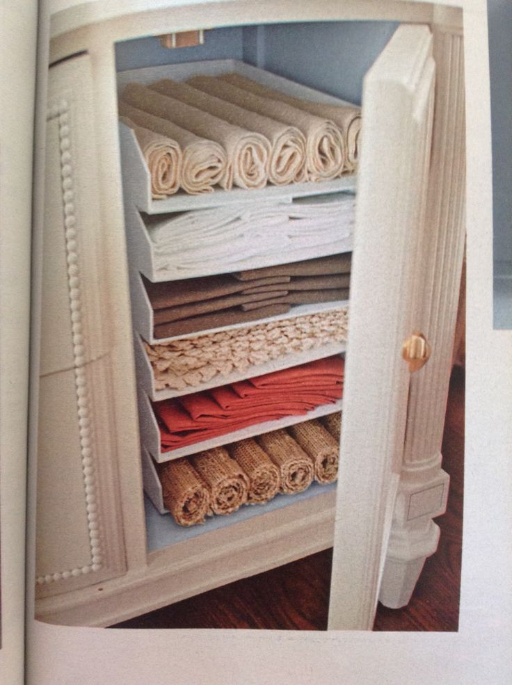 Nice Napkin Storage And Organizing Idea: Use Stackable Letter Trays To Keep  Things Tidy