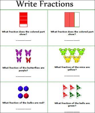 fractions worksheets free printable primary school write fractions math worksheets free 2nd. Black Bedroom Furniture Sets. Home Design Ideas