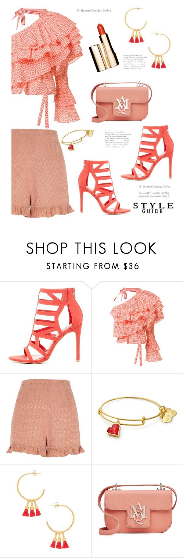 """""""Dress Up a Pair of Shorts'"""" by dianefantasy on Polyvore featuring Charlotte Russe, Rosie Assoulin, River Island, Gorjana, Alexander McQueen, Clarins, polyvorecommunity, contestentry and polyvoreeditorial"""