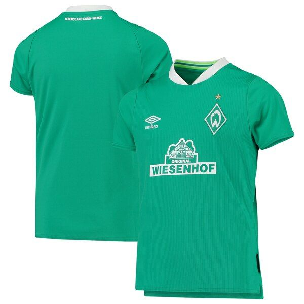 Sv Werder Bremen Umbro Youth 2019 20 Home Replica Jersey Green White Svwerderbremen Mens Tops Mens Polo Shirts Mens Polo