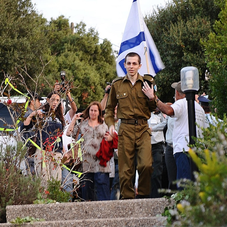IDF soldier Gilad Shalit comes home after being kidnapped and held 5 years in captivity by Hamas terrorists.