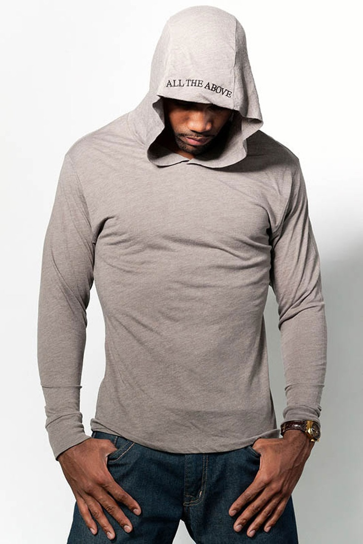 All the Above Clothing Designer Cotton Hoodies for Men - Tan or Vintage  Black at Savings off Retail!