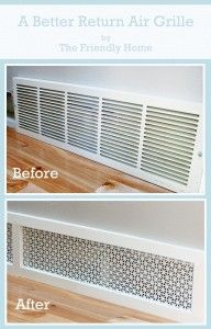 A better looking return air grille Tutorial- good idea for our house!!