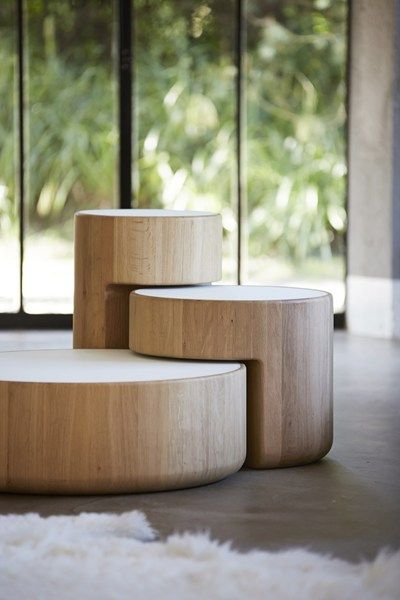 Love these nesting side tables. See more inspirations at: http://www.brabbu.com/en/inspiration.php
