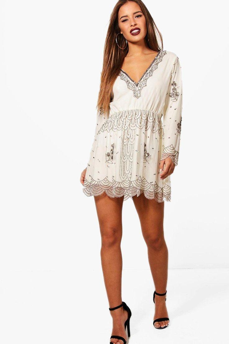 Petite Jodie V Plunge Sequin Dress