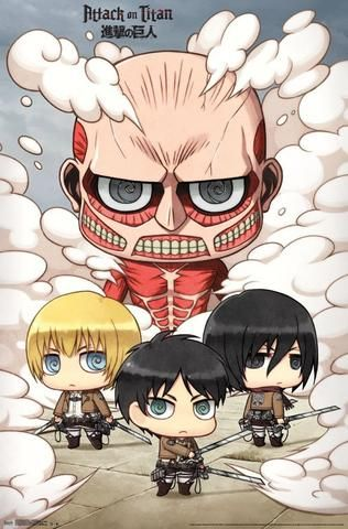 Attack On Titan - Chibi Group Wall Poster 22x34 RP14821 UPC882663048212