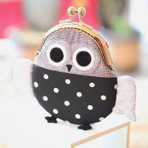 Owl coin purse. Pinned by www.myowlbarn.com