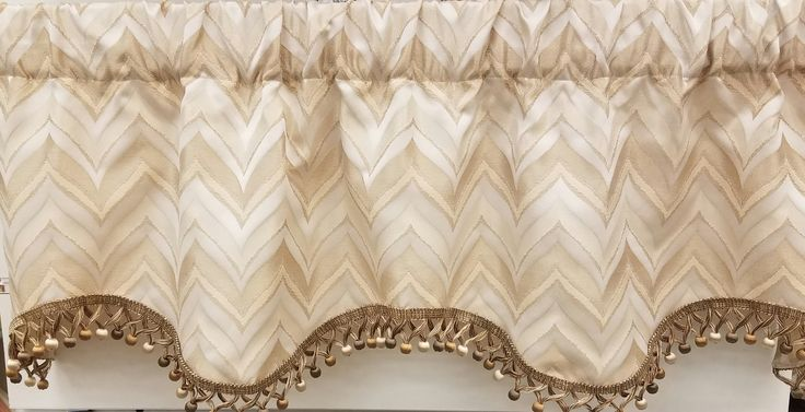 """Karaman Janey Valance 50""""w x 16""""l in Eggshell. $ 49.99 To Order Call toll-free 877-722-1100"""