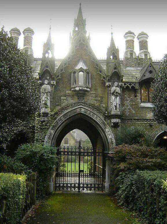 Gothic gatehouse in England