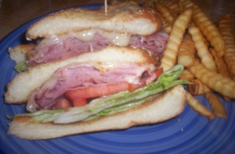 How many of you remember the Big Boy restaurants? They had a great sandwich called the Slim Jim.  Well here is my version of that great sandwich. For a true Big Boy restaurant experience, you might want to serve this with onion rings on the side. Submitted to Zaar on August 6th, 2006.