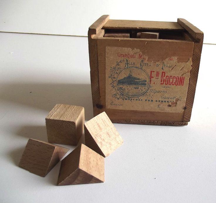 Magazzini Bocconi Milano 1890 costruzioni in legno d epoca giocattolo DA MUSEO