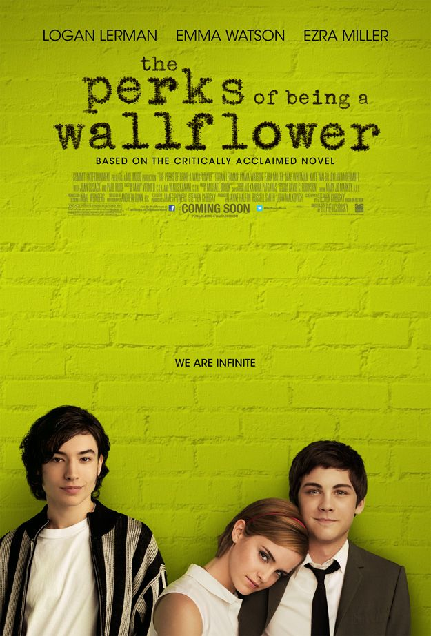 The Perks of Being a Wallflower, an amazing book and an upcoming film. --Laura yesssss!!!!!