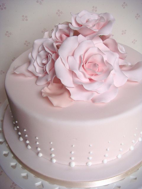 Pastel pink rose petal cake by smithy.claire, via Flickr