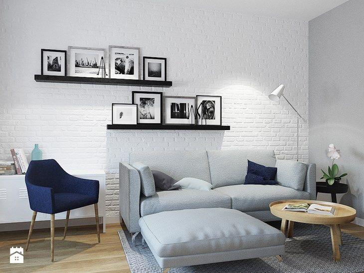 MIESZKANIE 49,5M² – POZNAŃ - Średni salon, styl skandynawski - zdjęcie od Devangari Design