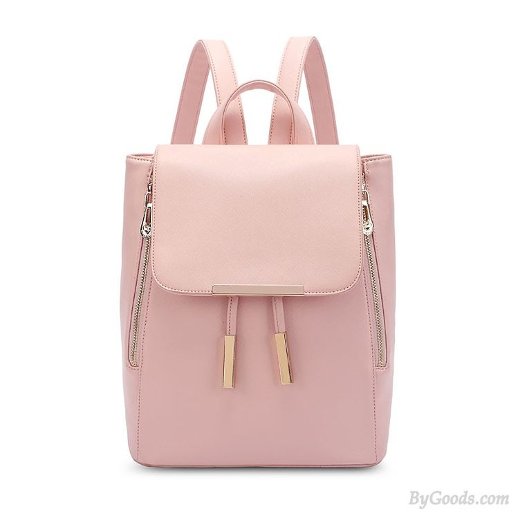 Elegant Funky Lady Solid Simple Square PU Drawstring Hasp Satchel Backpack only $33.99 in ByGoods.com!