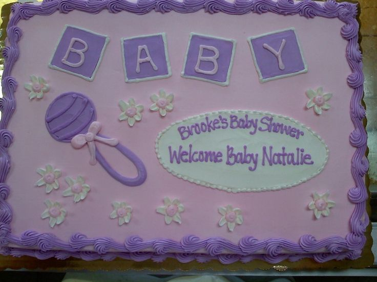 Baby Shower Girl Sheet Cakes ~ Baby girl shower sheet cakes google search