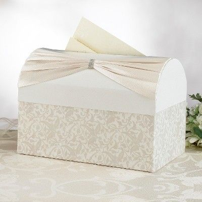 Wedding Chest Card Box - Ivory