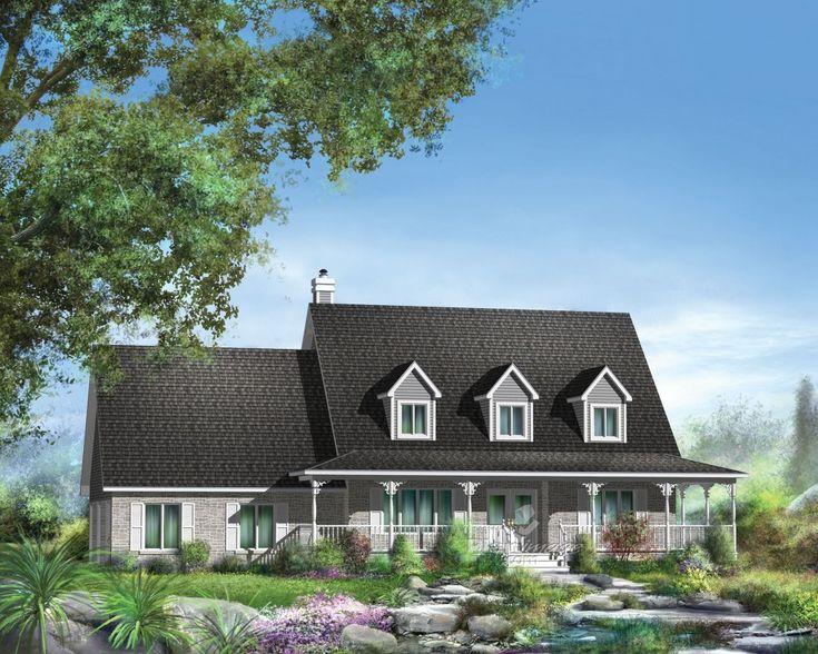 8 best style du0027architecture canadienne images on Pinterest Country - plan maison demi sous sol