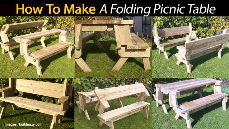 Groovy Build A Folding Picnic Table Woodworking Project And Plans Andrewgaddart Wooden Chair Designs For Living Room Andrewgaddartcom