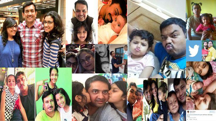 #BLIJMETMIJNDOCHTER, #BLIJ MET MIJN DOCHTER India - Na een oproep van de Indiase premier op Twitter, stuurden duizenden vaders een selfie met hun dochter.