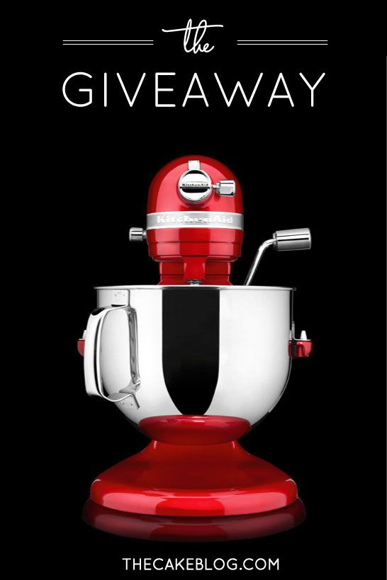 We're celebrating YOU with a mega mixer giveaway!!!  |  Enter to win this 7-QT KitchenAid Stand Mixer!!!