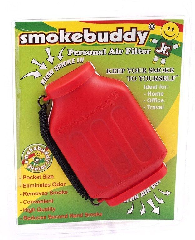 the smokebuddy personal air filter lets you keep your smoke to yourself