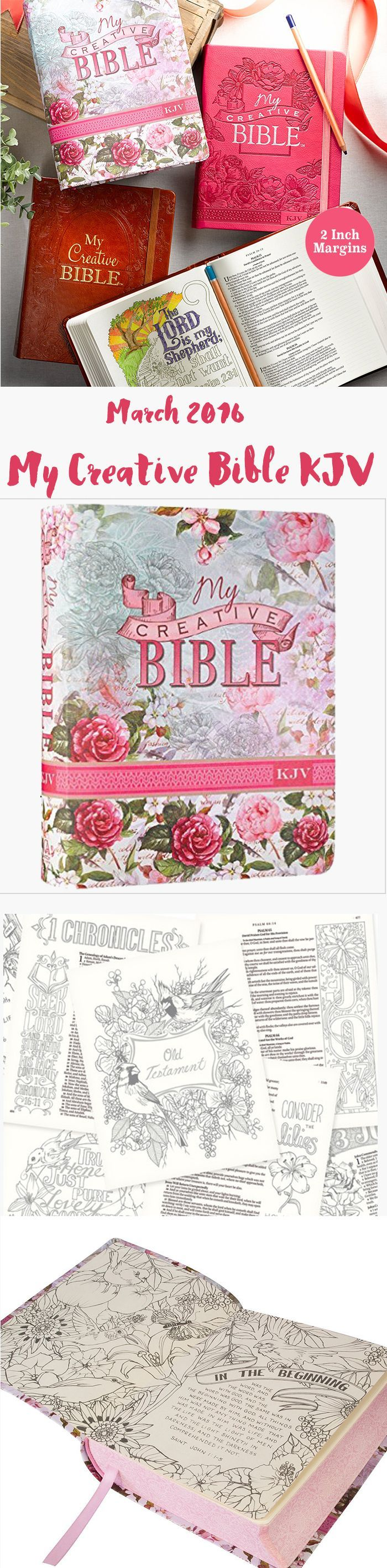 My Creative Bible KJV 400 illustrations to color. Special pre-order price.