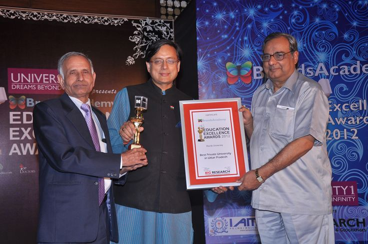 Sharda University, Education Excellence Awards, March - 2012
