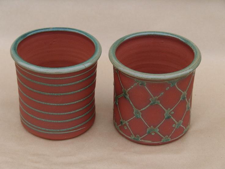 Aylesford Pottery: Medium size garden pots