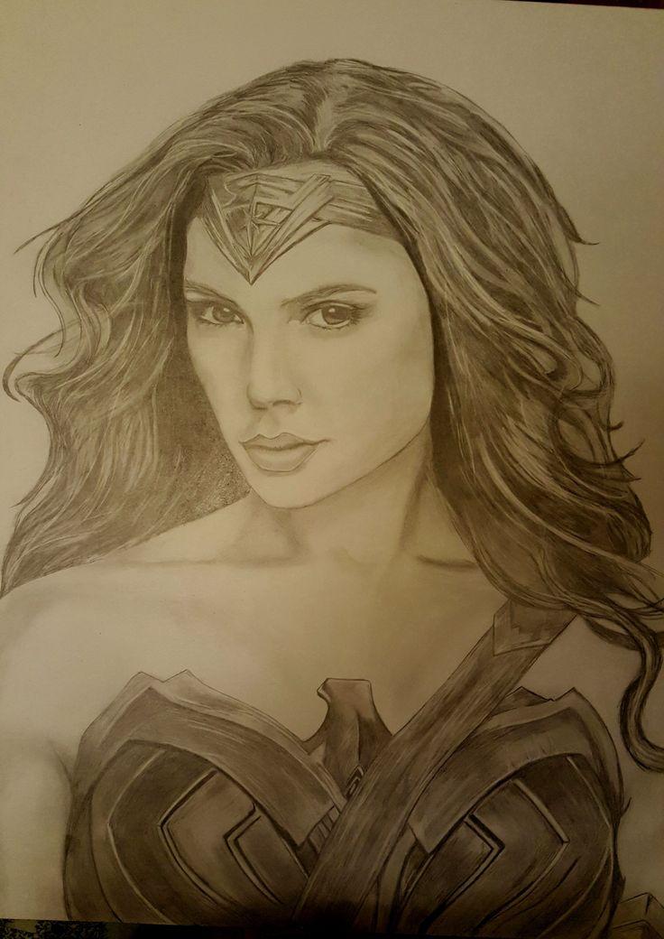 Wonder Woman hand drawn #2b pencil artwork by Vulgardragon's Den