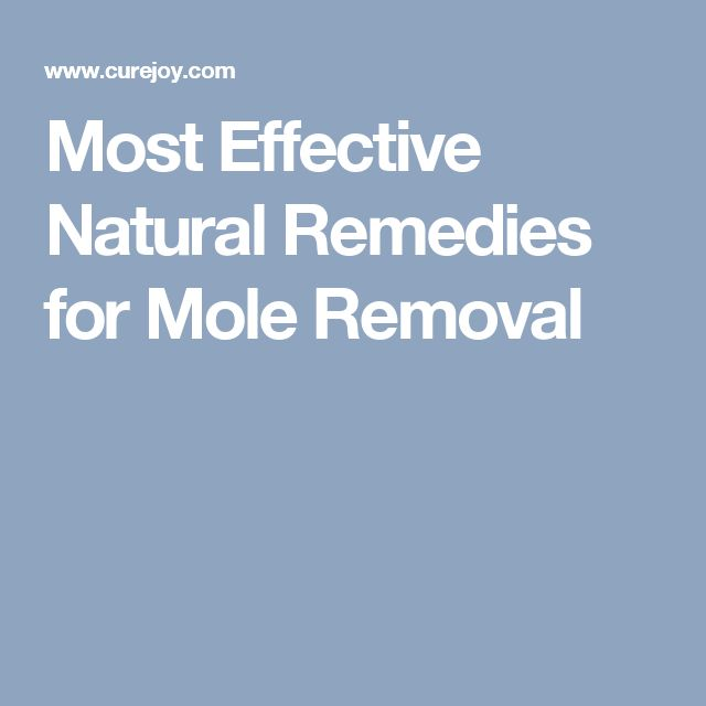 Best Natural Mole Removal Method