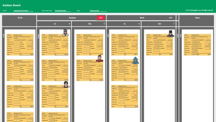kanban board excel template free download