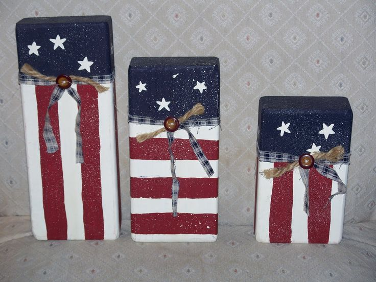 Patriotic 2x4 scrap - Crafty Camper Girl: Memorial Weekend Craft Projects Part 1