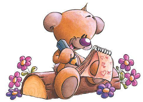 Прикольный мишка рисунки, годика дочери