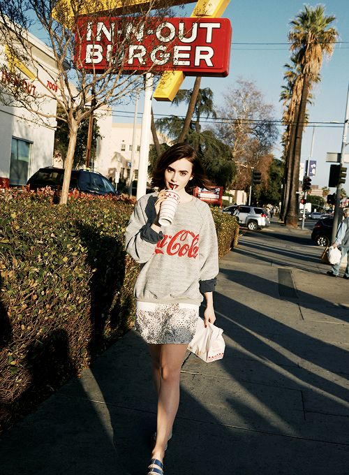 Lily Collins Lucky 2014 photo cover shoot, love that sweater.