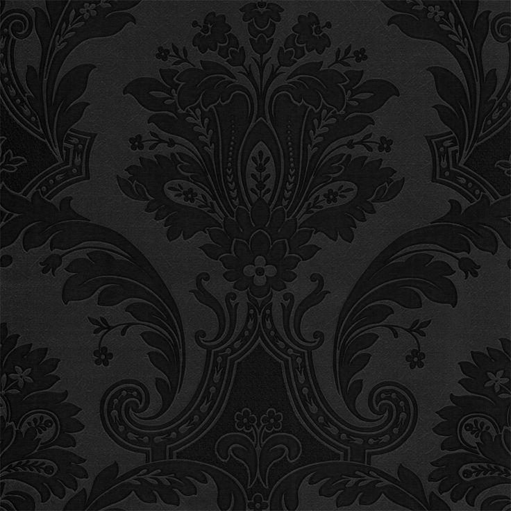 Plain black wallpaper