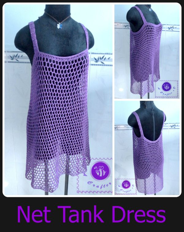 Crochet net tank dress - Maz Kwok's Designs