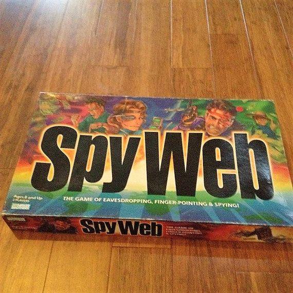 $12    Vintage 1997 Spy Web Board Game / Action Man Board Game / Kids Spy Board Game by V1NTA6EJO