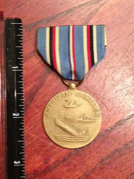 World War 2 -  U.S. Military Medal American Campaign 1941-1945