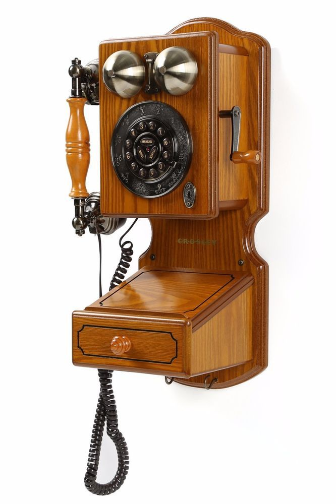Old Phones Vintage Antique Telephones Pay Phone County 1920 S Rotary Oak Wood For The Home Country Kitchen Wall