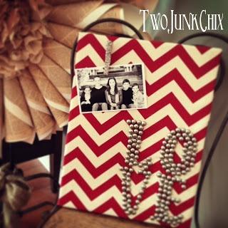 Two Junk Chix: Upholstery Tack Canvas Art