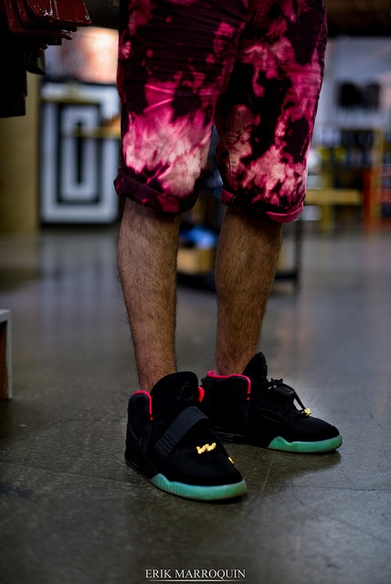 Air Yeezy II's with a cool dye short. #mens #fashion